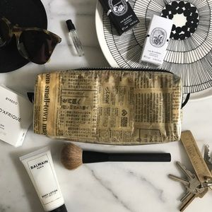 Recycled Planet Store New York Newsprint Pouch